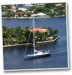 Sailboat in the intercoastal